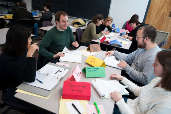Program participants work in small groups